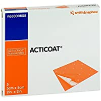 ACTICOAT 5x5 cm antimikrobielle Wundauflage 5 St Kompressen preisvergleich bei billige-tabletten.eu
