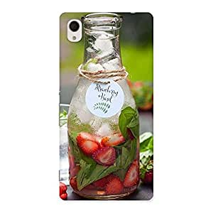 Strawberry and Basil Multicolor Back Case Cover for Xperia M4 Aqua