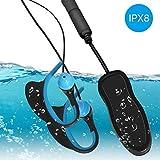 Huadun IPX8 - Reproductor de música bajo el Agua para Nadar y Auriculares Impermeables con Ganchos para los oídos, 8 GB, MP3 con Clip Deportivo para Surf, Buceo (Negro)