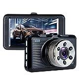 Dash Cam, ViiVor Telecamera per Auto Full HD 1080P,Super Wide angolo di 140 grad Auto DVR Camcorder,G-sensore di movimento rilevamento Loop Recorder LED notte visione