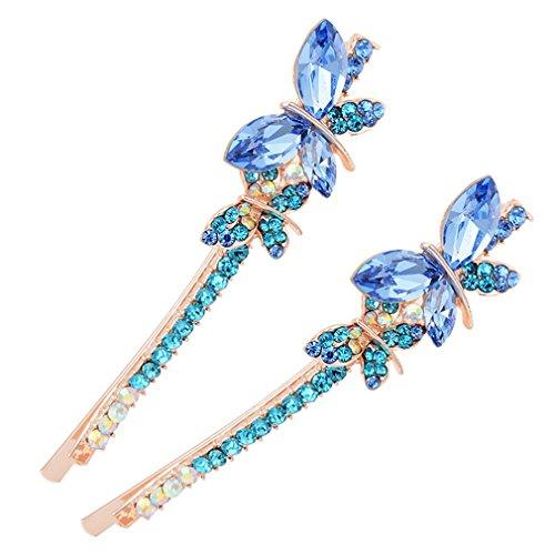 YwltShi Mode-Haar-Accessoire-Paar von rohen Legierung Haarnadel Haarschmuck, blau