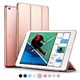 New iPad 2017 iPad 9.7 inch Case, ESR Ultra Slim Lightweight Smart Case Trifold Stand with Auto Sleep/Wake Function, Microfiber Lining, Translucent Frosted Hard Back Cover for Apple New iPad 9.7 inch 2017 Model, Rose Gold