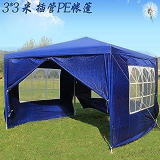 zxyzky 3 x 3 m Gartenpavillon Festzelt mit Seitenteilen, vollständig wasserdicht, pulverbeschichteter Stahlrahmen für den Außenbereich Hochzeit Garten Party Blau