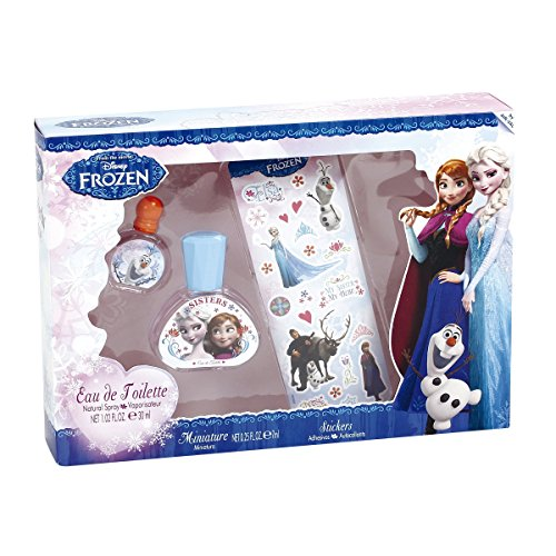 Frozen Die Eiskönigin Eau de Toilette Geschenkset Kinder Parfum 30ml plus 7ml & Aufkleber