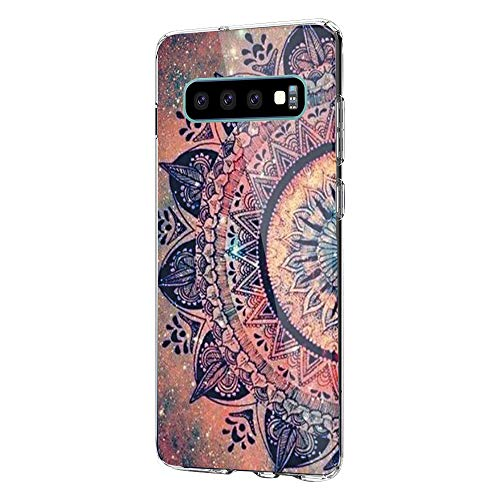 Kompatibel Mit Samsung Galaxy S10+ Hülle Transparent Silikon Handyhülle Ultra Dünn TPU Protection Farbe Planet Muster Fit Galaxy S10 Hülle (Samsung Galaxy S10+ / Galaxy S10 Plus, Nationaler-Stil) -