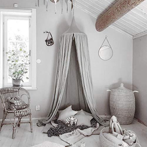YXNN Moskitonetz Luna, Bud Silk Cover Kinderbett Zelt Princess Bed Game Zelt Innendekoration (Color : Gray)