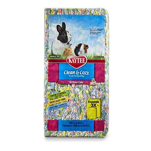 Kaytee 894756 Clean & Cozy Streu für kleine Haustiere / Nager / Hamster, 99.9 % staubfrei, Geruchskontrolle - 24.6 Liter, Geburtstagskuchen