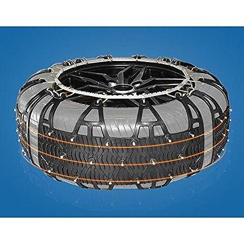 QJONKE autoaccessory Eine Vielzahl von Reifen-Modellen Anti Schnee Reifen Ketten von Auto, Stahl und Verdickung TPU, schwarz (Satz von 2 Reifen) , m