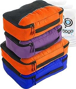 packing cubes 4pcs value set for travel plus 6pcs. Black Bedroom Furniture Sets. Home Design Ideas