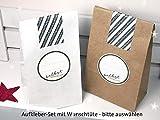 Set Verpackung für Selbstgemachtes inkl. Aufkleber und Geschenktüten zur Auswahl