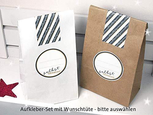Set Verpackung für Selbstgemachtes inkl. Aufkleber und Geschenktüten zur Auswahl Elegante Tee-sets