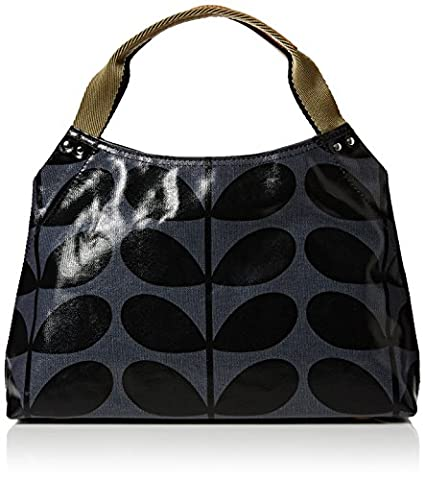 Orla Kiely Womens Small Classic Zip Shoulder Bag Midnight