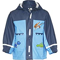Playshoes Boys Waterproof Raincoat Jacket Dinosaur