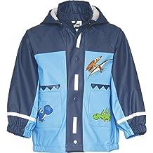 Playshoes Waterproof Raincoat, Rain Jacket Dinosaur, Dino - Chubasquero para niños