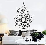 superchao Flor de Loto Yoga Hinduismo Hindú Om Símbolo Vinilo Tatuajes de Pared...
