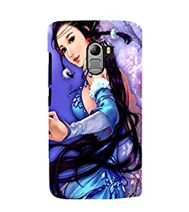 Printvisa Premium Back Cover A Girl In A Blue Dress Design For Lenovo K4 Note
