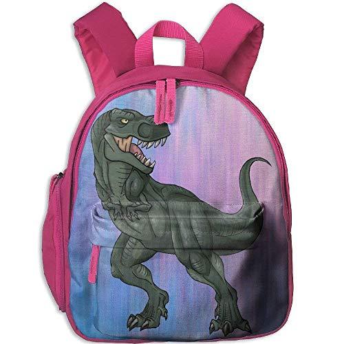 Kindergarten Boys Girls Backpack Dinosaur Turn Back School Bag