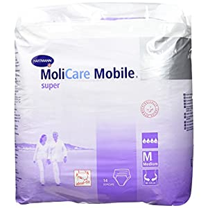 Hartmann 915882 MoliCare Mobile Super Pull-up Pant, 80 cm-120 cm Size, Medium (Pack of 14)