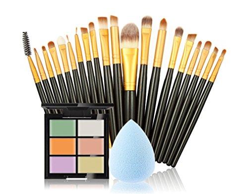 FantasyDay® 6 Couleurs de Maquillage Crème Correcteur Concealer Contour Palette Fond de Teint Cosmétique Anti-cernes Mettez en Surbrillance Camouflage Palette + 20PCS Pinceaux de Maquillage +1 Beauty Blender #3