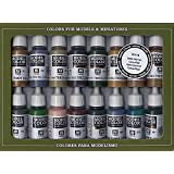 Vallejo Model Color WWII German Camouflage Acrylic Paint Set - Assorted Colours (Pack of 16)