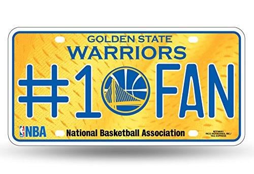 NBA # 1 Fan Kennzeichenung Metall-Schild, weiß -