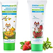 Mamaearth 100% Natural Berry Blast Kids Toothpaste 50 Gm,Fluoride & Sls Free,No Artificial Flavour & M