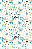 Christening Gift Wrap for a Baby Boy including gift tag/s. Luxury Wrapping Paper for a gift for a Christening or Baptism of a Baby Boy (2 Sheets 1 tag)