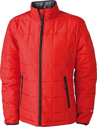 JAMES & NICHOLSON Veste matelassée avec Thinsulate insulation™ 3M rouge/noir