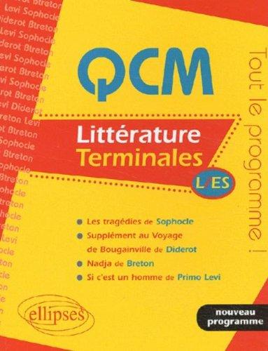 QCM, Littérature, Terminales