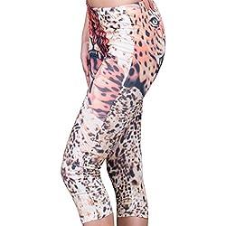 HO-Ersoka señoras de Capri Legging Capris del Estiramiento del Leopardo Impresa
