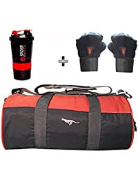 5 O' CLOCK SPORTS Gym Bag Combo Set Enclosed With Polyster Gym Bag With Shoe Compartment For Men For Men And Women... - B07B2X413Q