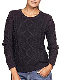 0e6862d38bba0e TopsandDresses Ladies Black Cable Cotton Long Sleeved Jumper in UK Plus  Sizes 16-26/