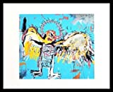 Jean-Michel Basquiat Poster Kunstdruck Bild Untitled Fallen Angel 1981 im Alu Rahmen schwarz 42x34cm - Germanposters