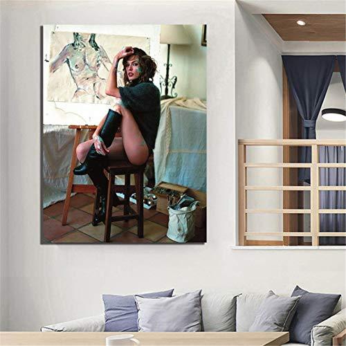 DOLUDO Wandkunst Bud Spencer Filmplakate Leinwanddrucke Malerei Wanddekorkunst Bild Kunstwerk Wohnkultur für Wohnzimmer für Geschenke 60 x 80 cm (kein Rahmen)