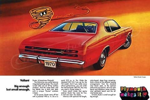 Classique et musculaire ADS et voiture Art 1970Plymouth Duster AD numérique & re-mastered voiture Poster imprimé