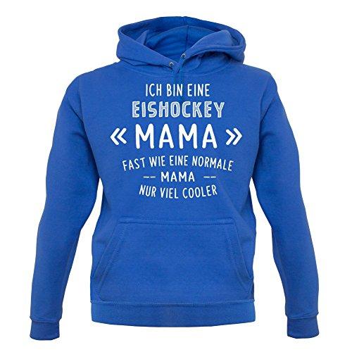 Ich bin eine Eishockey Mama - Unisex Hoodie/Kapuzenpullover - Blau - S