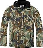normani Herren Winterjacke mit Futter Hooded Parka Wasserabweisender Windbreaker Farbe Camouflage Größe 3XL
