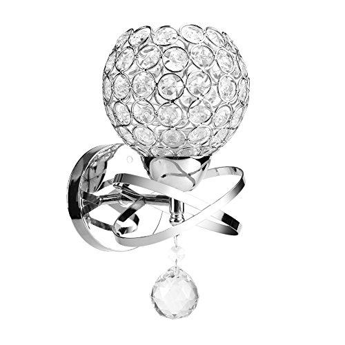 Asixx LED Wandleuchte Wandlampe, Moderne Kristall Wandlicht Kreative Beleuchtung für Schlafzimmer, Wohnzimmer, Diele, Esszimmer(Ohne Birne) - Kristall Wandleuchte Beleuchtung