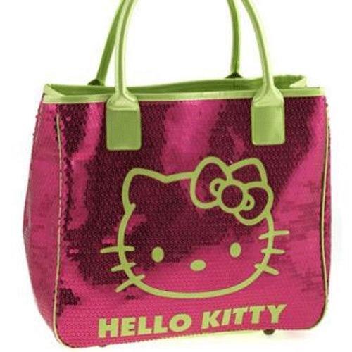 Grand sac à main sequins rose Hello Kitty Camomilla