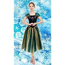 Everglamour - Disfraz de Anna de Frozen para adulto, S(UK SIZE 8-10)