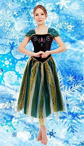 Donna, Regina Anna Frozen-Costume travestimento, motivo: Gown, L(UK SIZE 12-14)