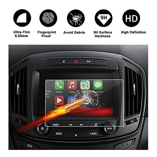 RUIYA Protector de pantalla de vidrio templado (2013-2016) Opel Insignia I Touch R 700 IntelliLink sistema de navegación,Crystal Clear HD película protectora-8 pulgadas