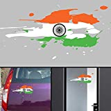 #3: PPD Flag Jai Bharath Flag Car Stickers for Body / Glass / Wall - Colour Splash Design