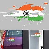 #4: PPD Flag Jai Bharath Flag Car Stickers for Body / Glass / Wall - Colour Splash Design