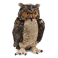Melissa & Doug 18264 Giant Owl - Lifelike Stuffed Animal (43 centimeters tall)