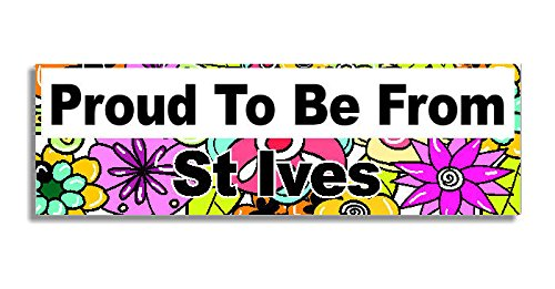 proud-to-be-from-st-ives-car-sticker-sign-coche-pegatina-decal-bumper-sign-5-colours-flowers