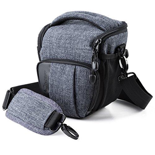 Kamera Tasche K&F Concept® Kameratasche SLR-Tasche SLR-Schultertasche für Canon Nikon DSLR- und Systemkameras mit Schultergurt Regenschutzhülle S