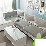 Fluidique Coussins de canapé, Lin Textile Simple Moderne Serviette de canapé Quatre saisons Interchangeable Serviette de canapé-A 70x70cm(28x28inch)
