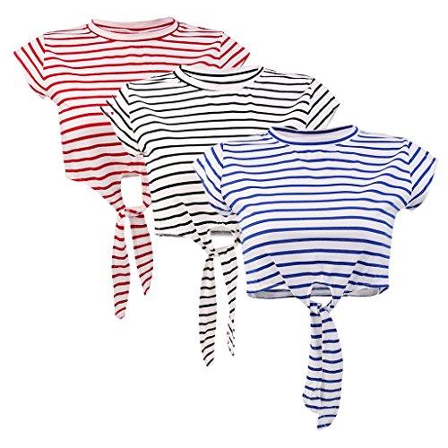 MagiDeal Donne Camicetta Top T-shirt Maglietta Casuale Canotte Camicie Gilet da Estate Rosso