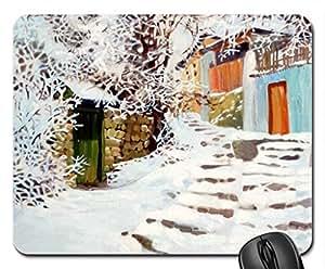 "By Victoria Yakimova ""Enero"" Mouse Pad, Mousepad (Winter Mouse Pad)"